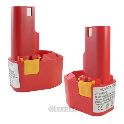 0200 12 Volt Battery (2 x 12V 2000mAh 2.0AH Battery for MILWAUKEE 48-11-0200 48-11-0140 Cordless Drill)