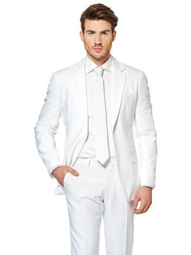 OppoSuits Men's White Knight-Party Costume Suit, 38 ()