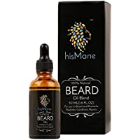 HisMane Premium Beard & Mustache Oil,50ml, With Lavender, Argan, Jojoba and 4 More Essential and Carrier Oils