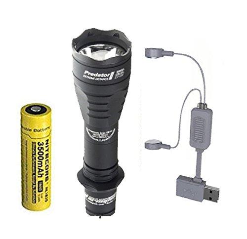 (Combo: Armytek Predator Pro v3 XHP35 Hi Flashlight 1700 Lumens w/NL1835 Battery + A1 Charger )