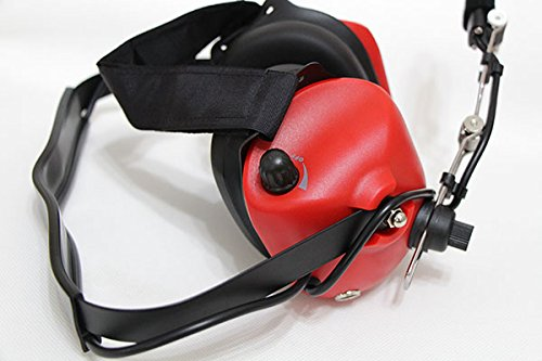 Noise Cancelling Pilot VOX Headset for Motorola Gp340 Gp328 Gp380 Mini DIN (Red)