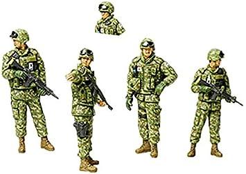 Tamiya 300035276 - Set de 5 figuras (soldados con accesorios): Amazon.es: Juguetes y juegos