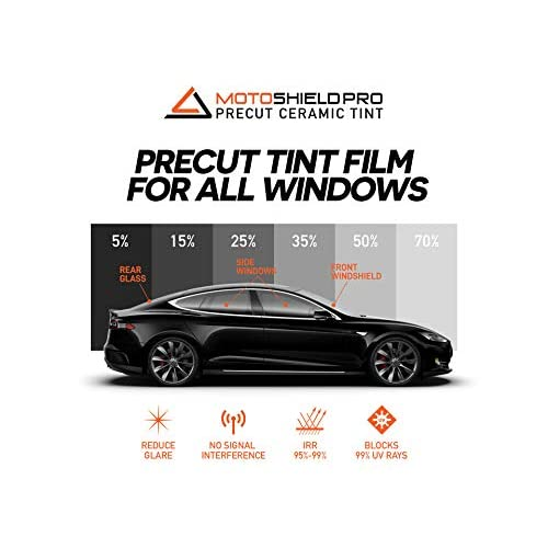 Precut Window Tint For Chevy Silverado 1500 Crew Cab 2014-2018 Sunstrip