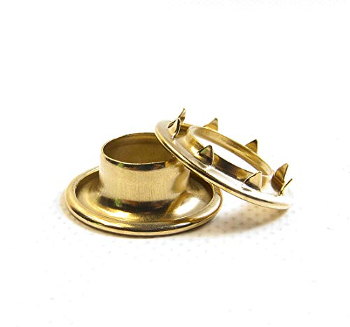 Brass #4 217-4 Rolled Rim Spur Grommets Sold by The Gross (144) by #4 Rolled Rim Spur Grommets (Image #1)