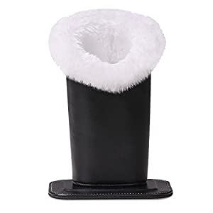 MoKo Plush Lined Eyeglass Holder with Magnetic Base-PU Leather Glass Stand