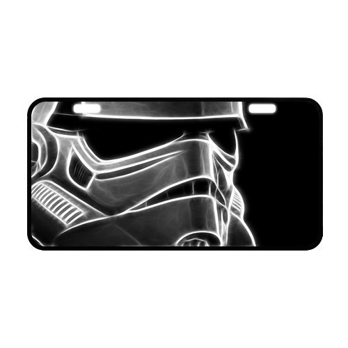 "Cheap Best Personalized Custom Star Wars Stormtrooper Metal License Plate for Car Tag Fashion Durable Novelty License Plate 11.8"" X 6.1"" supplier"