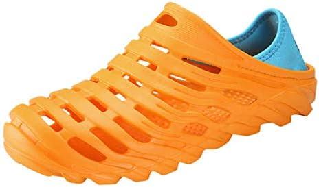 Eldori 2019 人気ファッション 性格 超快適 余暇 速乾性 男性の水遊びスポーツとレジャーの穴の靴2つのゴムバンド弾性ヒール通気性防水ビーチシューズ中空屋外カジュアルシューズ