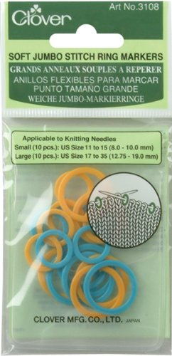 Clover Soft Jumbo Stitch Ring Markers - Jumbo Ring Markers