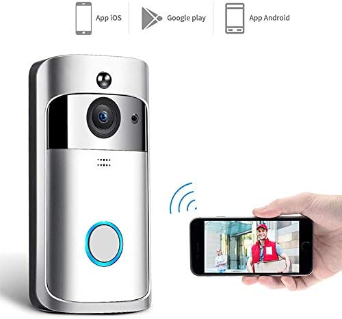 LanLan Timbre inalámbrico, WiFi DoorBell Smart Video Phone Door ...