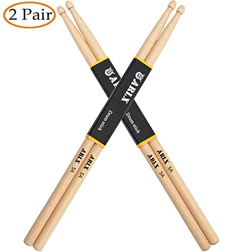 WOGOD 5A Drum Sticks Maple Drumsticks (Two pair) -