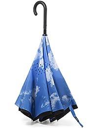 InBrella Reverse-Close Folding Umbrella