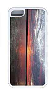iPhone 5C Case, Personalized Custom Rubber TPU White Case for iphone 5C - Sunrise Portage Lake Onekama Mi Cover
