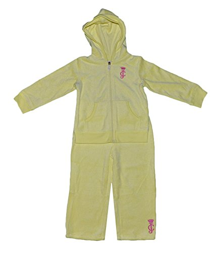 [Juicy Couture Baby Baby-girls Infant Yellow Terry Basic Jog Set 18 Months] (Juicy Couture Terry Cotton Tracksuit)