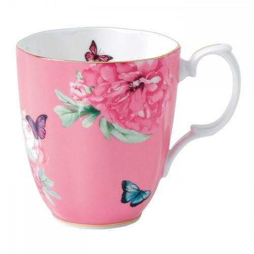 Floral Collection Pink Mug - Royal Albert 40001828 Friendship Vintage Mug Designed by Miranda Kerr, 13.5-Ounce, Pink