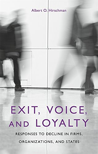 Exit, Voice, and Loyalty: Responses to Decline in Firms, Organizations, and States (Exit Press)