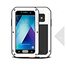 LOVE MEI Aluminum Protective Gorilla Glass Shockproof Dustproof Waterproof Snowproof Protective Case for Samsung Galaxy A5/A520 2017 (White)