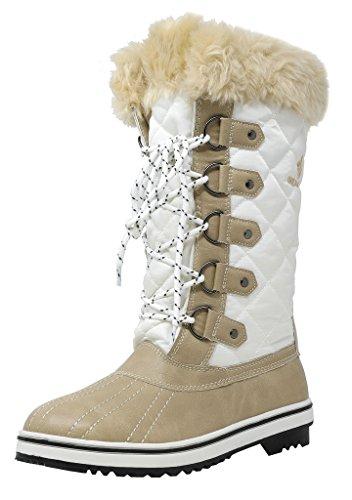 2017 Fashion Women Winter Boots Shoes (Beige) - 8
