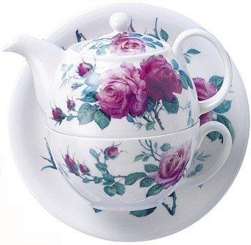 Rose Tea For One Stacking Teapot Set (One Stacking Teapot Set)