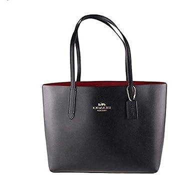 0cedf8bebfb0 Amazon.com  COACH AVENUE TOTE BLACK RED  Shoes