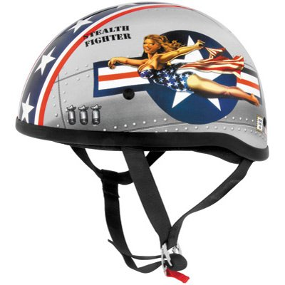 (Skid Lid Original Bomber Pinup Half Helmet L/large)