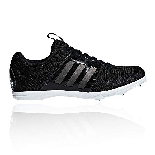 adidas Allroundstar Kids Running Spike Trainer Shoe Black/White - UK 3