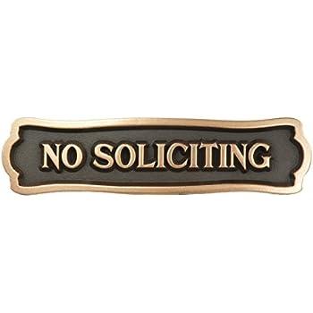 Amazon Com Balgrand Bronze No Soliciting Sign Home Amp Kitchen