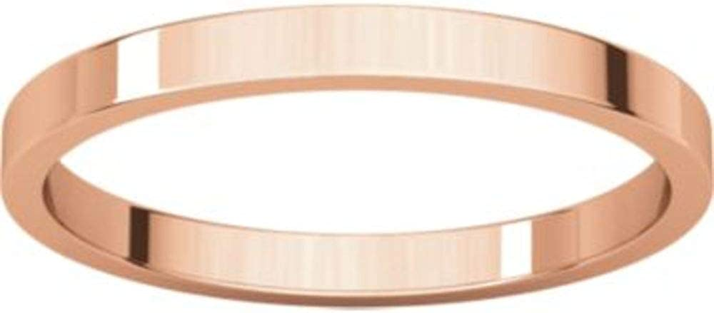 Size 11.5 Bonyak Jewelry 10k Rose Gold 1.5 mm Flat Band