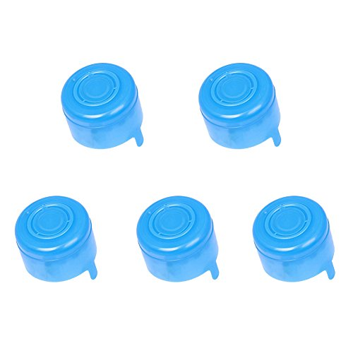 5pcs Non Spill Cap Anti Splash Bottle Caps Reusable for 55mm 3 and 5 Gallon Water Jugs Water Bottle Snap On Cap Anti Splash Peel Off Tops Inner Lid 55mm (5pcs)