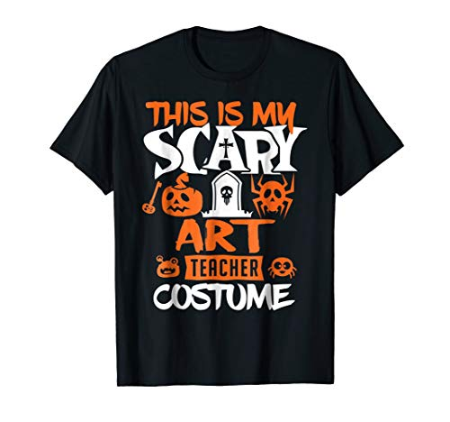 Art Teacher Halloween Costume Funny T-Shirt -