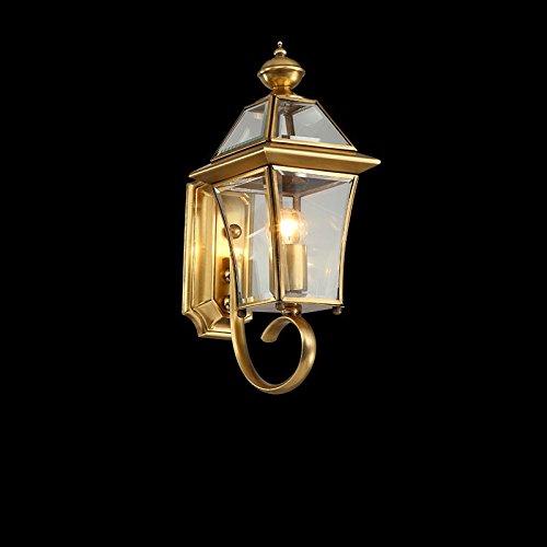 H-M-STUDIO Wandlampe E27 Im Freienwandlampe, Alle Kupferne Leuchte, Im Freienwandlampe, Wasserdichte Wandlampe Im Freien, Amerikanische Handwerkswandlampe, Zweitausend Und Elf