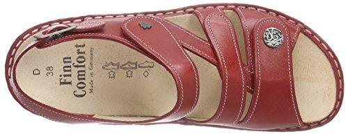Finn Comfort Ladies Gomera Cinturino Alla Caviglia Rosso (rosso)