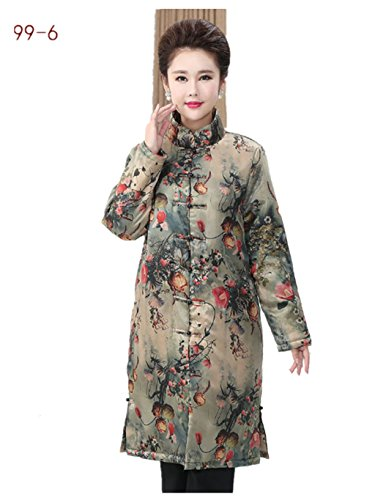92% Mulberry Silk (water gauze technics) Womens Tang Suits Cotton-padded Jackets Coats Womens Jackets Business Jackets Full Dress Formal Dress Winter Dress (99-5) (99-6) by Womens Tang Suit (Image #4)