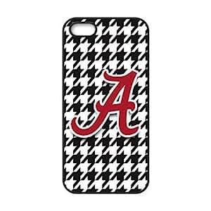 Oscar M. Gilbert's Shop iPhone 5 & 5s Case - Popular Houndstooth Background NCAA Alabama Crimson Tide Apple iPhone 5 & 5s Waterproof Rubber