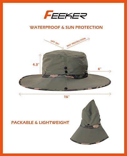 0fd16f6380c Jual Feeker Waterproof Outdoor Wide Brim Sun Hat