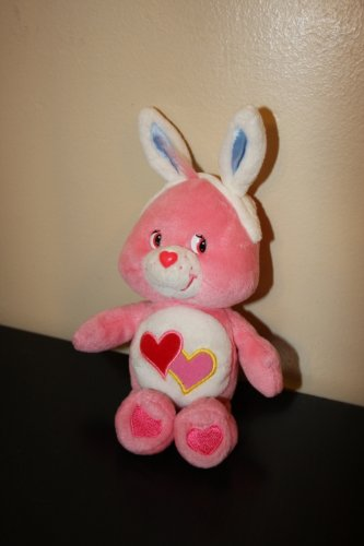 Happy Easter Bunny Care Bear Love-a-lot-bear Pink with two hearts on tummy ()
