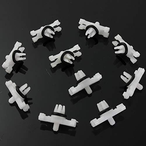 brasier y clip de 10 piezas para techo superior de canalones de lluvia, clips de sujeción para BMW E46 1998-2014 51138204858...