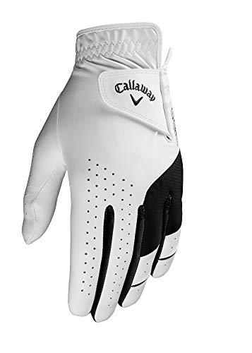 Callaway Golf Men's Weather Spann Premium Japanese Synthetic Golf Glove, Worn on Right Hand, Large
