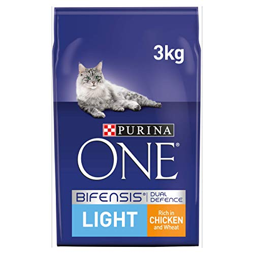 Purina ONE Cat Food Light Rich In Chicken and Wheat (Pack de 4)