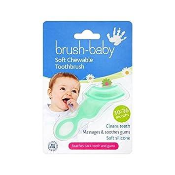 Pinsel-Baby Beißring Bürste 10 Monate - 3 Jahre - Packung mit 4