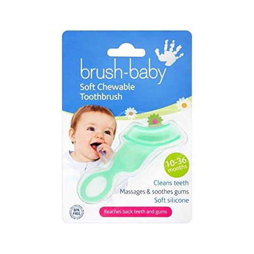 Brush-Baby Teether Brush 10 months - 3 Years - Pack of 4 by Brush-Baby