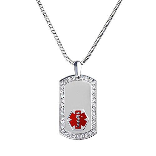 Engraved Medical Necklace - 9