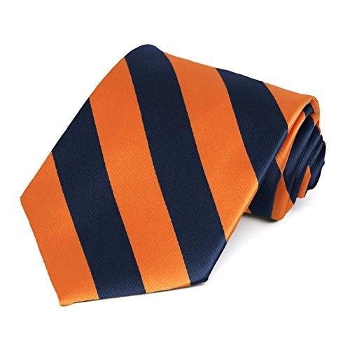 And Blue Orange Tie (Navy Blue and Orange Striped Tie)