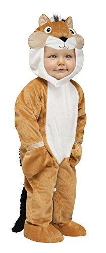 Fun World Costumes Baby's Chipper Chipmunk Toddler Costume, Tan/White/Black, Small