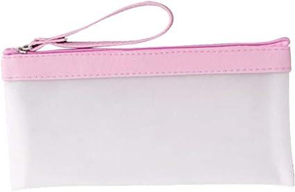 TREESTAR Estuche multifuncional de silicona translúcida, 21 x 10,5 cm, bolsa de papelería con cremallera, bolsa de cosméticos de moda, silicona, Rosa, 21*10.5cm: Amazon.es: Hogar