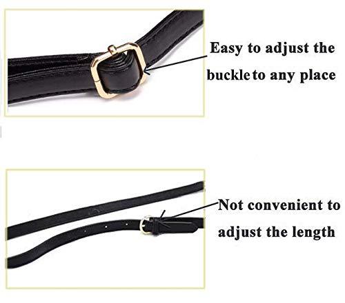 038ab236f19cb Purse Strap Replacement - Adjustable Microfiber Leather for Crossbody Bag  or Handbag - 34-59