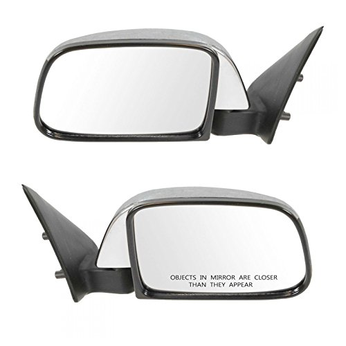 (Manual Side View Mirrors Chrome Left & Right Pair Set for 89-95 Toyota Pickup )
