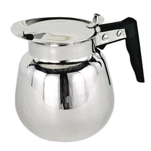 64 Decanter Black Coffee Oz (Wide Mouth Decanter, 64 Oz, Black Handle, Stainless Steel - 1 Each)