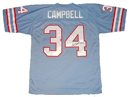 Houston Oilers Ness (Signed Earl Campbell Jersey - #34 Mitchell & Ness - JSA Certified - Autographed NFL Jerseys)