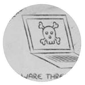 alfombrilla de ratón amenazas de malware y la seguridad de Internet, cráneo y PC - ronda - 20cm