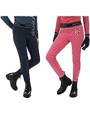netproshop Junior rijlegging Leyla met siliconen bekleding donkerblauw en roze maat 104-152